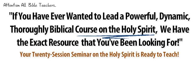 Holy spirit bible study lesson